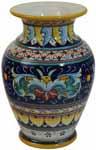 Deruta Italian Ceramic Vase Ricco Vario