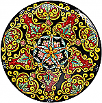 Ceramic Majolica Plate Vario Ricco Black R Y 739 35cm