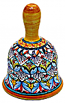 Ceramic Maiolica Christmas Dinner Bell Deruta Ricco White